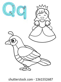 image about Letter Q Printable referred to as Queen Q Visuals, Inventory Images Vectors Shutterstock