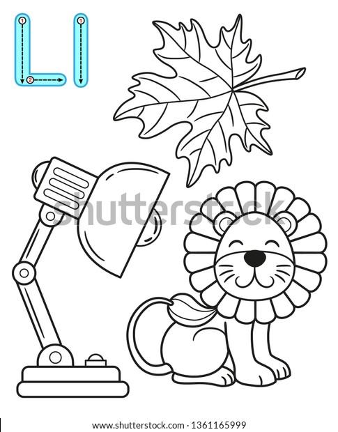 Printable Coloring Page Kindergarten Preschool Card Nature