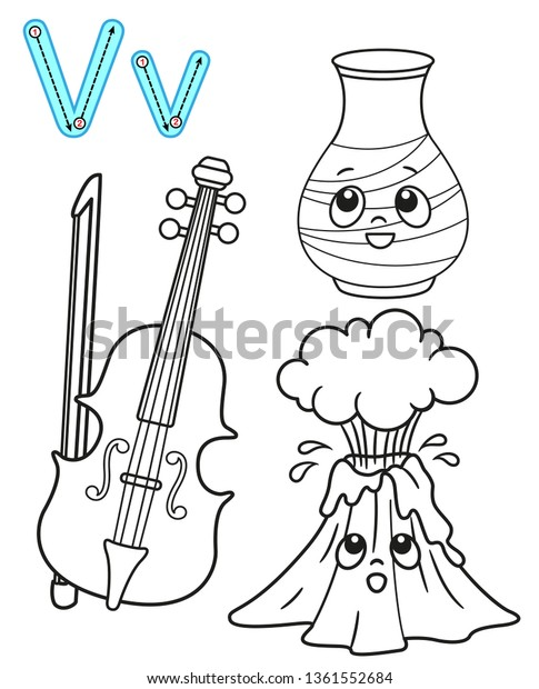 Classic Letter V coloring page from Classic English Alphabet category.  Select from 26307 p… | Coloring pages, Alphabet coloring pages, Free  printable coloring pages | 620x485