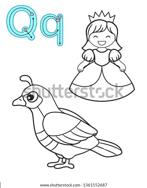 Printable Coloring Page Kindergarten Preschool Card Stock Vector Royalty Free 1361552687