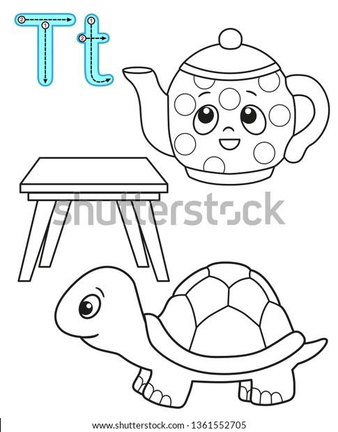 - Printable Coloring Page Kindergarten Preschool Card Stock Vector (Royalty  Free) 1361552705