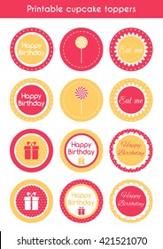 Christmas Cupcake Toppers Free Printable.Printable Cupcake Toppers Images Stock Photos Vectors