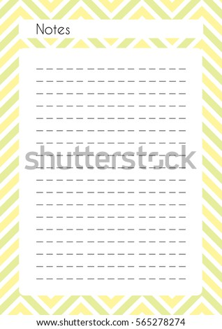 graphic regarding Notes Printable identify Printable Diary Webpage Notes Paper Site Inventory Vector (Royalty