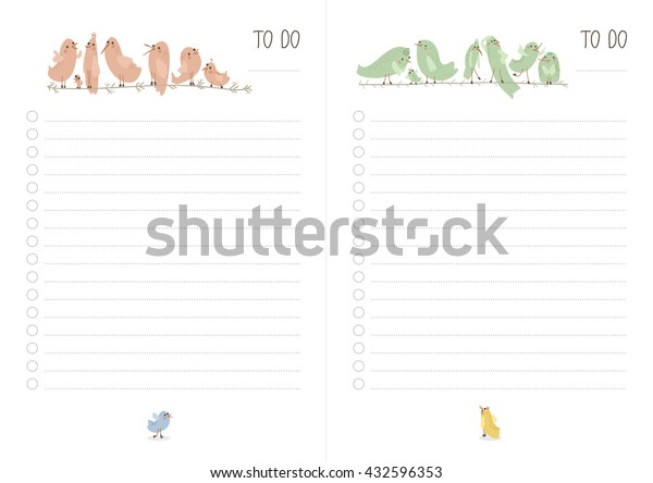 picture regarding Printable to Do List Cute called Printable Do Record Adorable Hen Look at Inventory Vector (Royalty Absolutely free