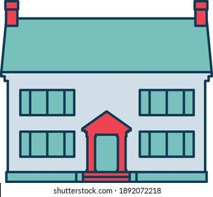printable and editable modern house