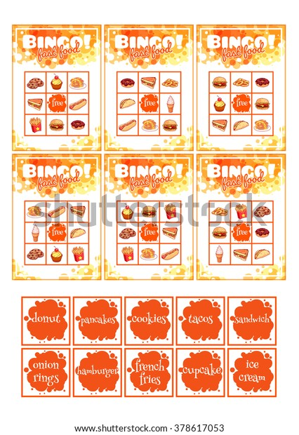 photograph regarding Printable Bingo Cards for Kids called Printable Insightful Bingo Video game Preschool Children Inventory Vector