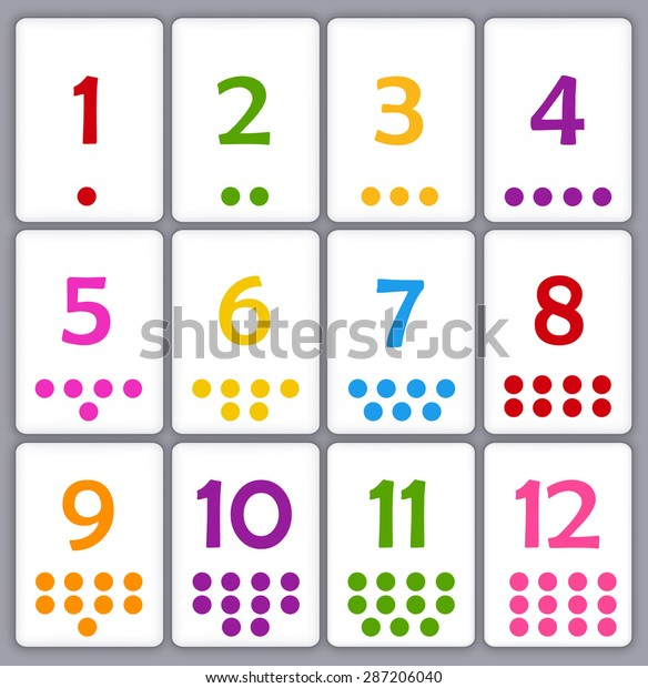 photograph about Numbers Printable identify Printable Flash Card Selection Quantities Dots Inventory Vector