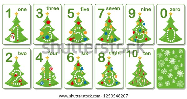 This is a graphic of Christmas Numbers Printable within christmas decorated
