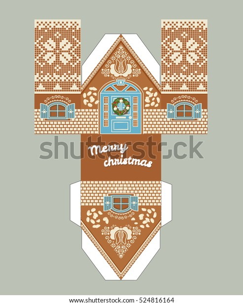 graphic relating to Gingerbread House Printable called Printable Reward Gingerbread Residence Xmas Glaze Inventory