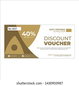 Printable golden food and drink voucher