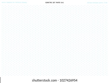 photograph about Printable Dot Paper named Isometric Dot Paper Illustrations or photos, Inventory Photographs Vectors