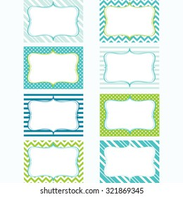 Printable Labels Set.Tags. Photo Frame, Gift Tags, Card Making, Invitation.