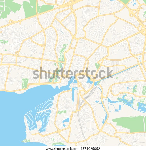 Map Of France La Rochelle.Printable Map La Rochelle France Main Stock Vector Royalty Free