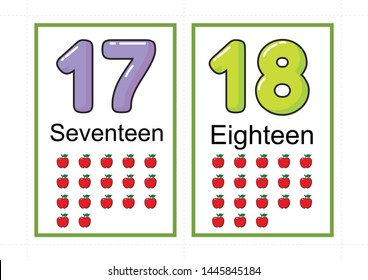 graphic about Printable Numbers Flashcards called Range Flashcards Illustrations or photos, Inventory Illustrations or photos Vectors Shutterstock