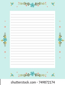 Printable page for notebooks, cute pages.