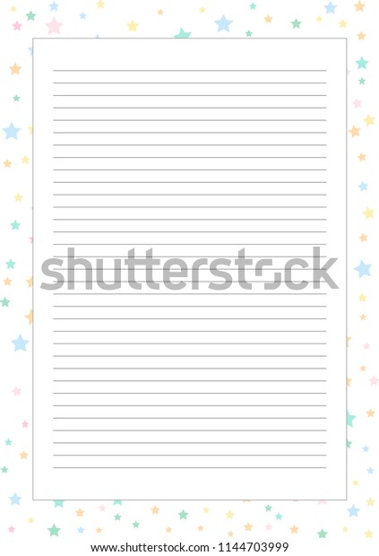 Printable Page Template Notebooks Scrapbooking Stock Vector