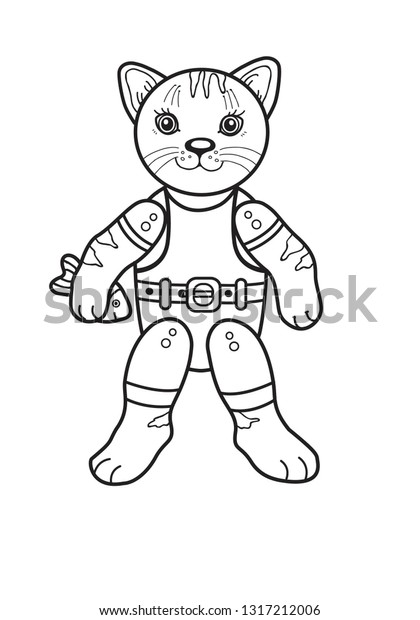 photograph regarding Printable Puppet known as Printable Paper Puppet Templates Cat Inventory Vector (Royalty
