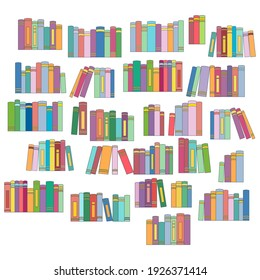 Printable To Read List, Book Tracker, Bullet Journal Planner Insert, Printable Reading List, Book List Printable color vector illustration