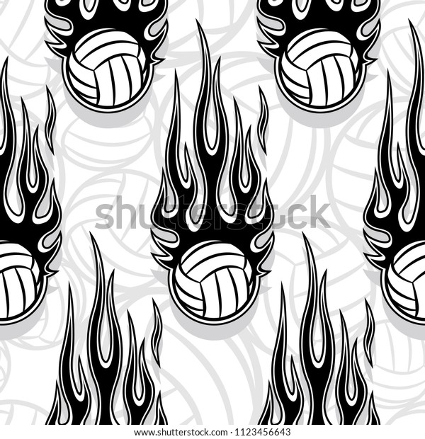 graphic relating to Volleyball Printable named Printable Seamless Habit Volleyball Ball Hotrod Inventory