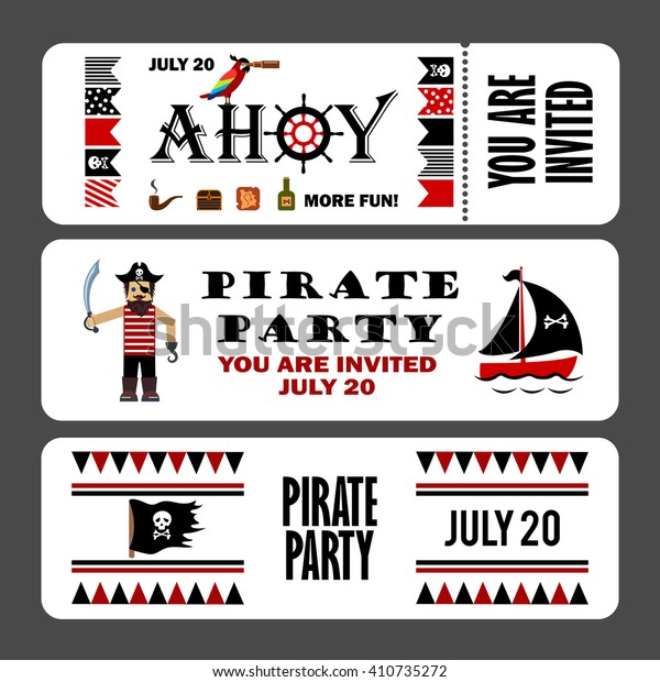 graphic about Pirates Printable Schedule known as Printable Fastened Common Pirate Occasion Invites Inventory Vector