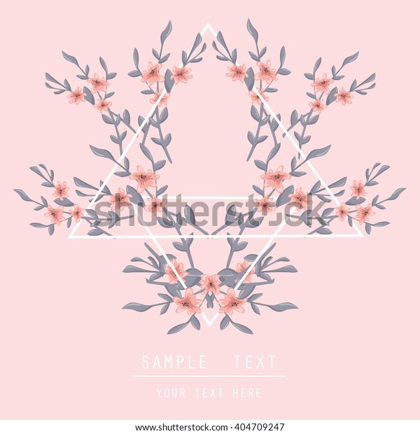 Printable Spring Wall Art Floral Pattern Stock Vector (Royalty Free