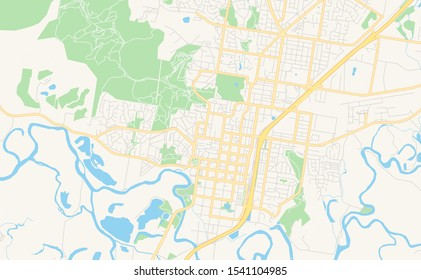 Printable street map of Albury-Wodonga, Australia. Map template for business use.