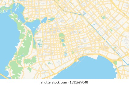 Printable street map of Wuxi, Province Jiangsu, China. Map template for business use.