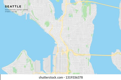 picture about Printable Map of Seattle called Seattle Road Map Shots, Inventory Pics Vectors Shutterstock