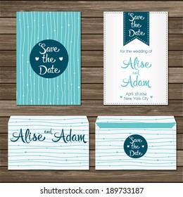 Printable Wedding Invitation Template: invitation, envelope, save the date cards. Wedding set. Marriage event.