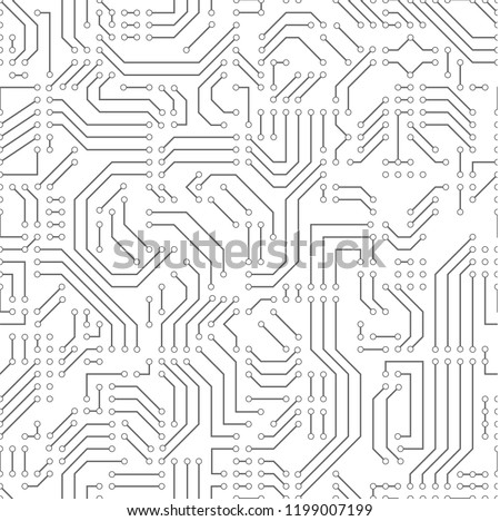 printed circuit board seamless vector pattern stock vector royalty rh shutterstock com