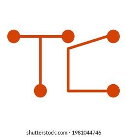 printed circuits monogram t c logo