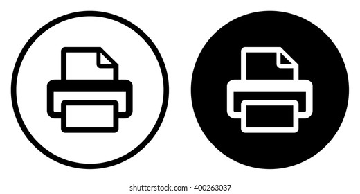 Printer or fax icon . Web symbol . Vector illustration