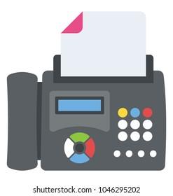A printer or a fax machine flat design icon