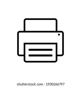 Printer Fax Web Icon Vector Design