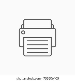 printer icon, fax vector