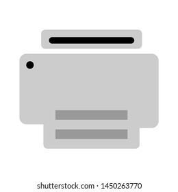 printer icon. Logo element illustration. printer symbol design. colored collection. printer concept. Can be used in web and mobile