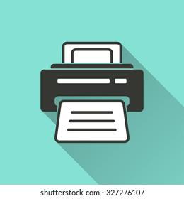 green printer stock vectors images vector art shutterstock https www shutterstock com image vector printer icon on green background vector 327276107