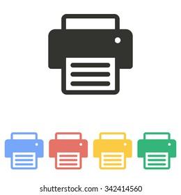 Printer  icon  on white background. Vector illustration.