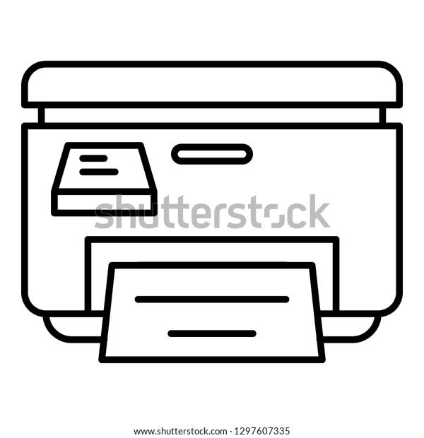 printer icon outline printer vector icon stock vector royalty free 1297607335 shutterstock