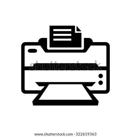 Printer Icon Printing Symbol Print Button Stock Vector Royalty Free