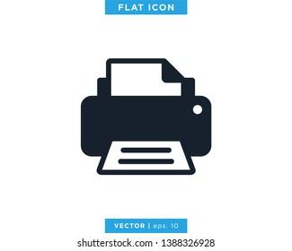 Printer Icon Vector Design Template.