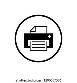 printer icon vector. print icon on the white background