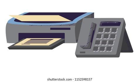 printer machine icon