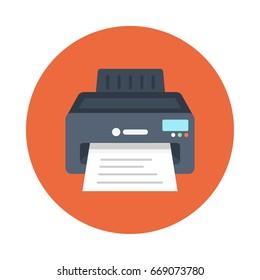 Printer Vector Flat Icons