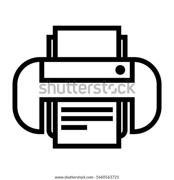 printer vector icon document printing symbol stock vector royalty free 1660563721 shutterstock