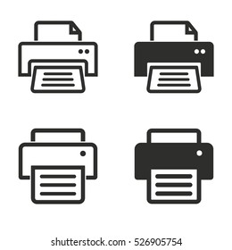 Printer vector icons set. Illustration isolated for graphic and web design.