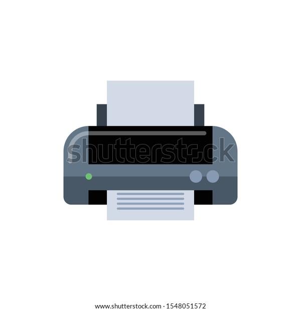 printer vector illustration isolated on white stock vector royalty free 1548051572 shutterstock