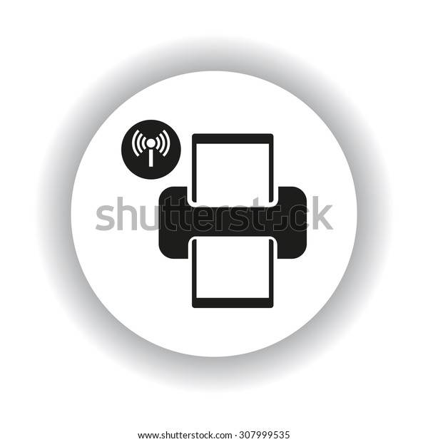 Printer with wi-fi connection. icon. vector design