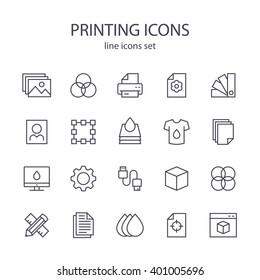 Printing icons.