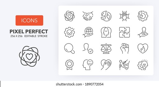 Printing industry thin line icon set. Outline symbol collection. Editable vector stroke. 256x256 Pixel Perfect scalable to 128px, 64px...